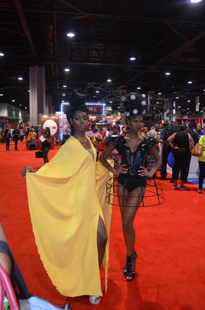 Ebonies in Yellow and Black at the Bronner Bros event 2014