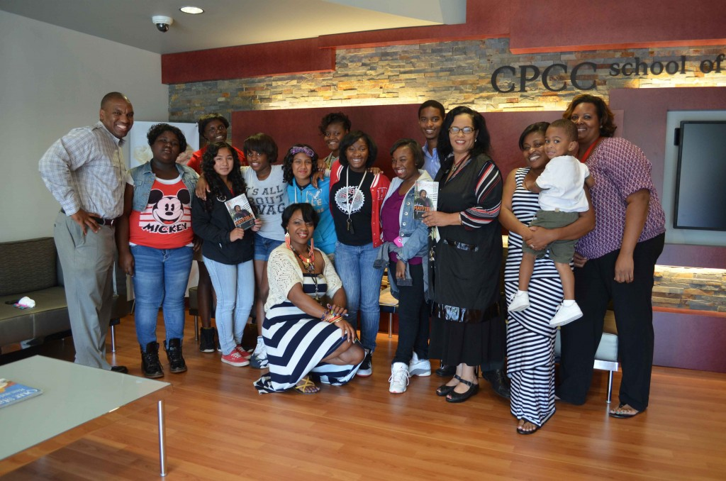 Smiles faces after Thomasboro girls received free hair services at CPCC's Cosmetology School.