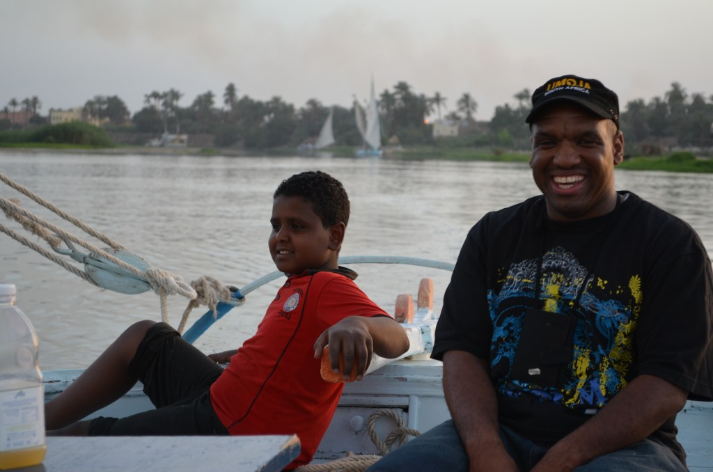 Rashad sails the Nile with his Nubian cousins.
