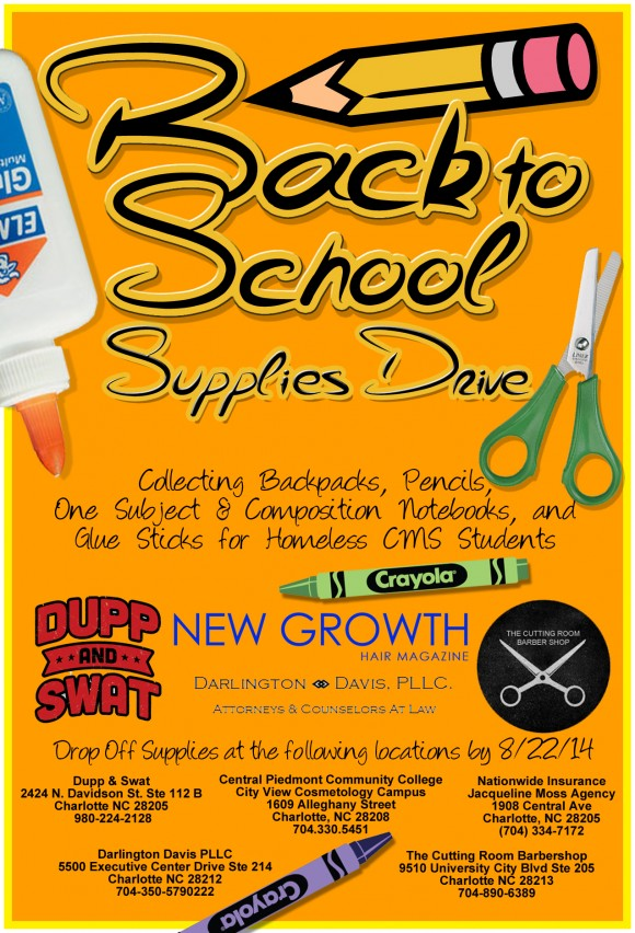 school supplies drive for homeless cms students new